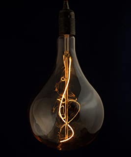 William & Watson King-Size WiFi Smart LED Dimmable E27 Edison Screw Filament Light Bulb with Heavy Duty Sculptural Amber G...