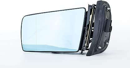 Driver Side Mirror for Mercedes E-Class W210 E300 E320 E420 E430 E55 AMG (1997 1998 1999) Sedan/Wagon - Power Operated, Unpainted, Heated, Manual Folding Left Rear View Replacement Door Mirror