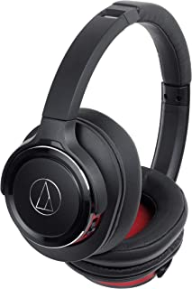 audio-technica SOLID BASS ワイヤレスヘッドホン 重低音 最大40時間再生 ブラックレッド ATH-WS660BT BRD