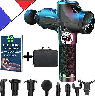 🇫🇷 Pistolet de Massage Musculaire 2021 I 8 Têtes Massage I 30 Vitesses I Masseur ORIGINAL Gun Professionnel Portable I É...