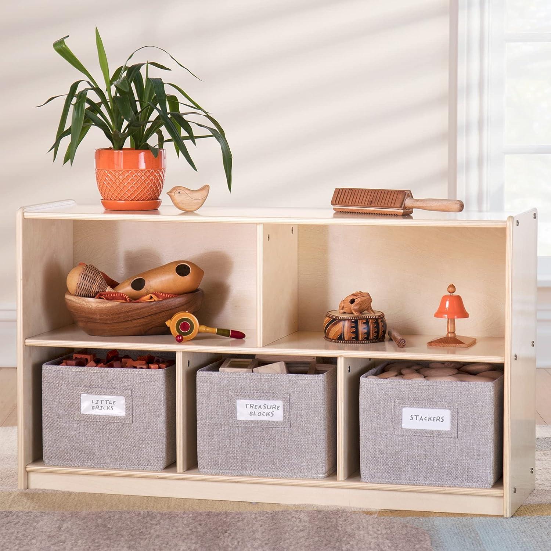 売買 Guidecraft EdQ Essentials 5 Compartment 24'' セール 特集 wit Storage Natural