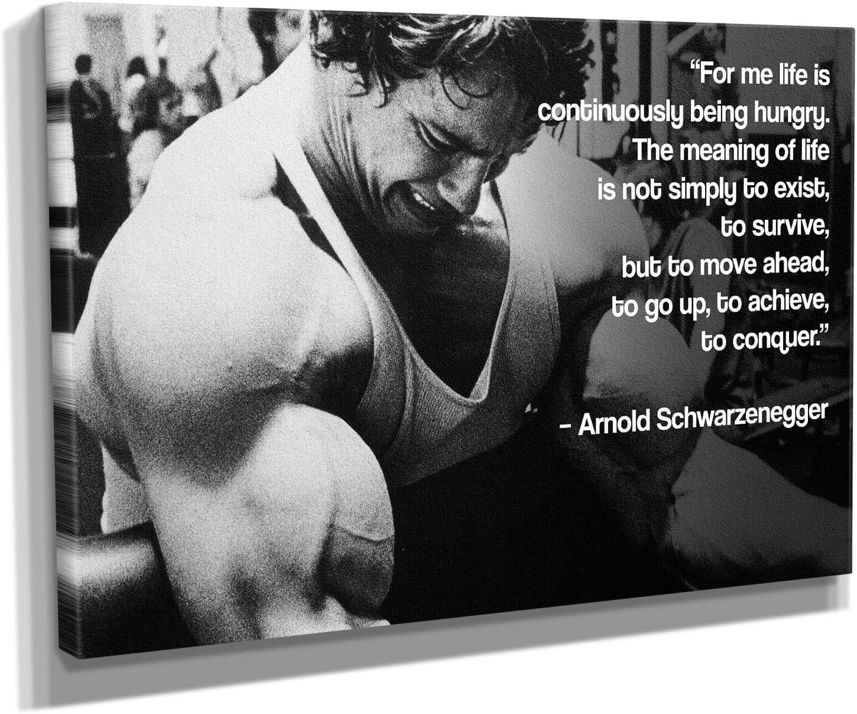 Selling Arnold Schwarzenegger Bodybuilding Motivational Fashion Quote Canvas Art