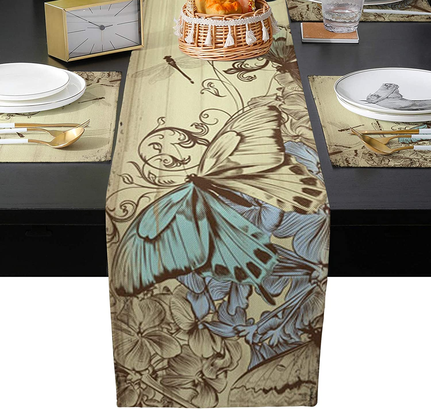 Max 55% OFF BABE Topics on TV MAPS Butterfly Table Placemats Heat Insulation M Place Set