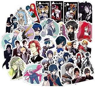 50pcs Japan Anime Black Butler Cartoon Stickers for Luggage Car Laptop Notebook Fridge Toy Skateboard Sticker F3