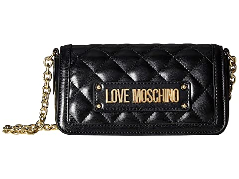 LOVE Moschino Shiny Quilted Crossbody Bag