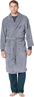 Men's Long Sleeve Cozy Soft Plush Shawl Collar Robe