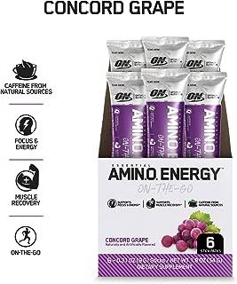 OPTIMUM NUTRITION ESSENTIAL AMINO ENERGY Individual Packs, Concord Grape, Keto Friendly BCAAs