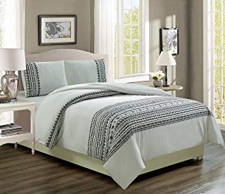 KingLinen Renata Black/White Reversible Comforter Set Twin