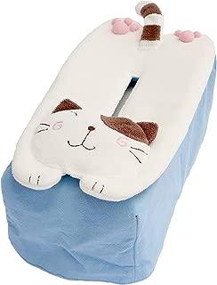 Hikosen Cara Cat Loaf Tissue Box Cover (Blue)