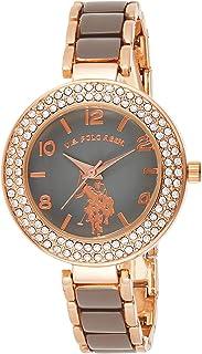 U.S. Polo Assn. Women's Analog-Quartz Watch with Alloy Strap, Two Tone, 8 (Model: USC40247AZ)