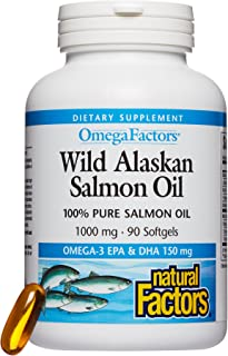 Sponsored Ad - Omega Factors by Natural Factors, Wild Alaskan Salmon Oil, Supports Heart and Brain Health with Omega-3 DHA...