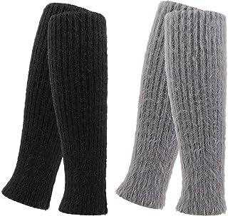 QKURT, 2 Pares Invierno Calentadores, Legwarmers Calentadores de piernas de lana