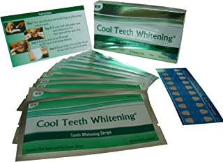 Cool Teeth Whiteningテつョ 14 Treatments Advanced Professional 6% Hp Strength Dual Elastic Band Teeth Whitening Gel Strips Kit 28 Pcs - 2 Week Supply + Free Color Chart Guide Included - Hydrogen Peroxide Tooth Whitestrips By Cool Teeth Whiteningテつョ by Cool Teeth Whitening