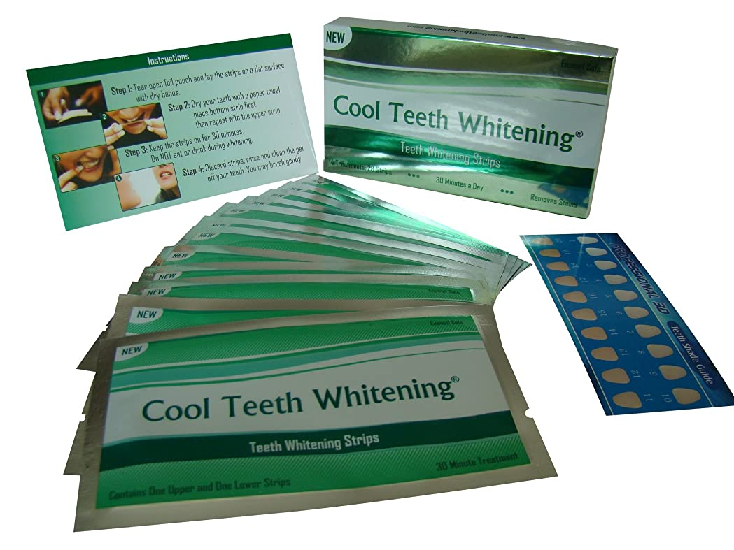 黙歌手シリングCool Teeth Whitening?つ? 14 Treatments Advanced Professional 6% Hp Strength Dual Elastic Band Teeth Whitening Gel Strips Kit 28 Pcs - 2 Week Supply + Free Color Chart Guide Included - Hydrogen Peroxide Tooth Whitestrips By Cool Teeth Whitening?つ? by Cool Teeth Whitening