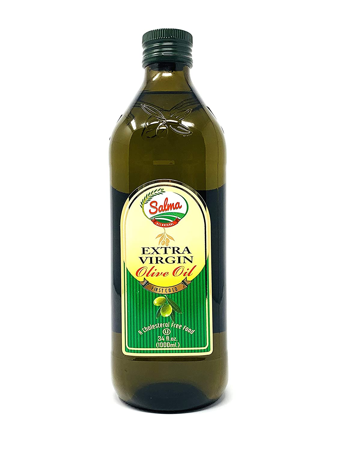 Amazon.com : Salma Extra Virgin Olive Oil (EVOO), First Cold Pressed, Imported from Morocco, Low Acidity, Glass Bottle (750 mL) 25.5 Fl Oz : Grocery & Gourmet Food
