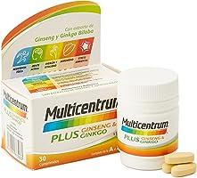 Multicentrum Plus Ginseng & Ginkgo, Complemento Alimenticio Multivitaminas con 13 Vitaminas, 11 Minerales, Ginseng y...