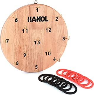 HAKOL Ultimate Hook & Ring Toss Game for Kids & Adults by Fun & Educational Alternative to Throwing Darts | Sturdy Board, ...