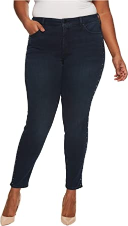 Plus Size Ami Skinny Legging Jeans with Studs in Future Fit Denim in Mason