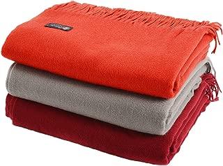 Cashmere Boutique: 100% Pure Cashmere Throw Blanket (16 Colors, Size: 52