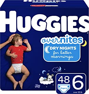 Huggies Overnites Nighttime Diapers, Size 6, 48 Ct