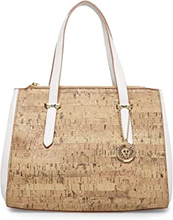 Anne Klein Metallic Cork Satchel