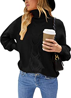 Sponsored Ad - Naletuoy Women's Turtleneck Sweater Top Long Sleeve Comfortable Chunky Knit Pullover Jumper Outwear