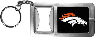 NFL Siskiyou Sports Fan Shop Denver Broncos Flashlight Key Chain with Bottle Opener One Size Black
