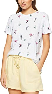 French Connection Women's Birds in The Paradise TEE, Summer White/Multi