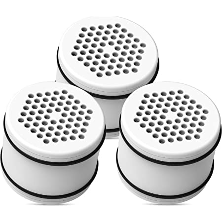 Waterdrop WHR-140 Shower Head Water Filter, Replacement for Culligan ISH-100, WHR-140, WSH-C125, HSH-C135, with Advanced KDF Filtration Material, Pack of 3