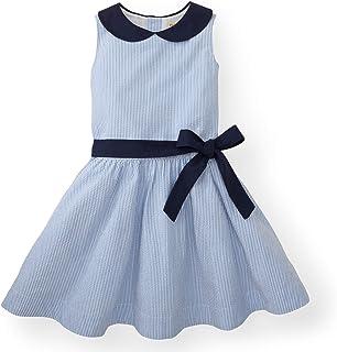 Hope & Henry Girls' Peter Pan Collar Seersucker Dress