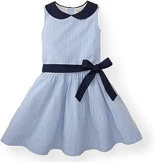 Girls' Peter Pan Collar Seersucker Dress