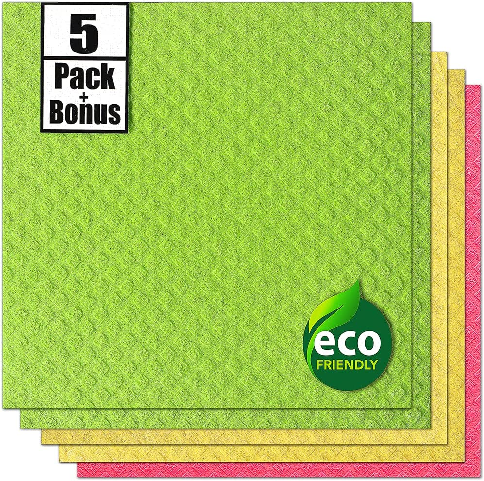 cheap Swedish Dishcloth Cellulose Sponge Kitchen for Large-scale sale Eco-Friend Cloth