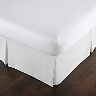 (California King, Bright White) - Southshore Fine Linens - VILANO Springs - 38cm Drop Pleated Bed Skirt, Bright White, Cal...
