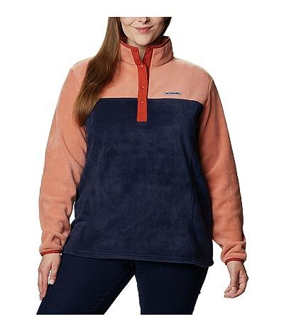 Columbia Plus Size Benton Springstm 12 Snap Pullover (Nova Pink/Dark Nocturnal/Dark Sienna) Women