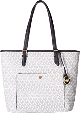 MICHAEL Michael Kors Jet Set Item Large Top Zip Snap Pocket Tote
