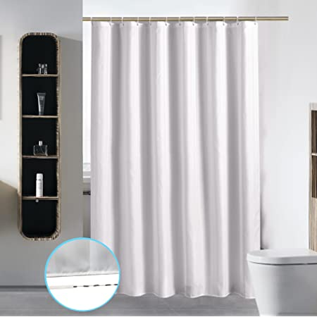 Details about  /Gray Polyester Bathroom Waterproof Shower Curtains with Plastic Hooks Home Suppy