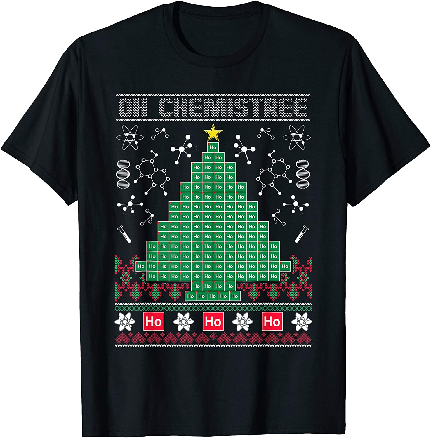 Oh Chemistree Funny Science Shirt Gift Xmas Ugly Christmas Sweater Sweatshirt