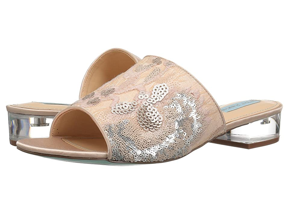 Blue by Betsey Johnson Ryder (Champagne Satin) Women