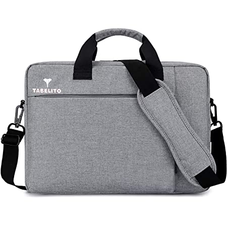 Tabelito Office Laptop Bags Briefcase 15.6 Inch for Women and Men (Grey)