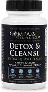 Detox & Cleanse 15 Day Quick Cleanse Advanced Formula   Supports Digestive & Immune Health Weight Loss Energy Levels   Colon Cleanse Gentle & Natural Dietary Supplement