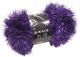50g Ball of Tinsel Chunky Wool in Purple