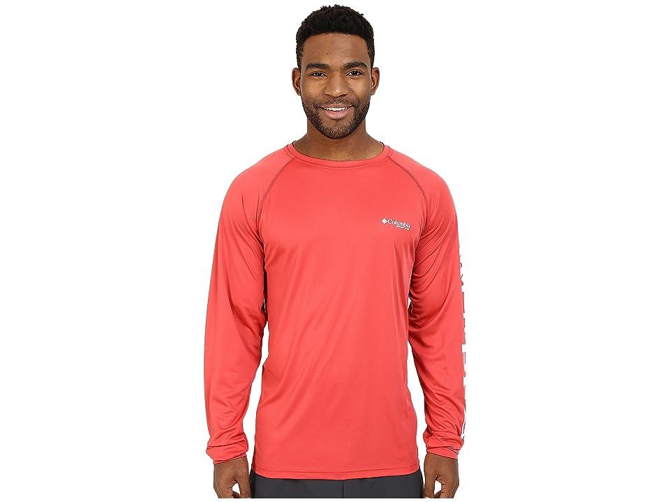 Columbia Terminal Tackletm L/S Shirt (Sunset Red/White Logo) Men