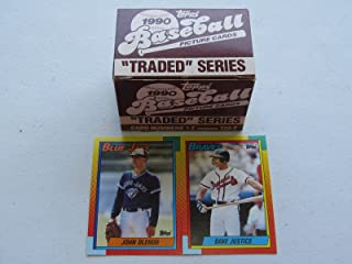 1990 Topps Traded Baseball Complete Set #1T-132T David Justice and John Olerud Rookies