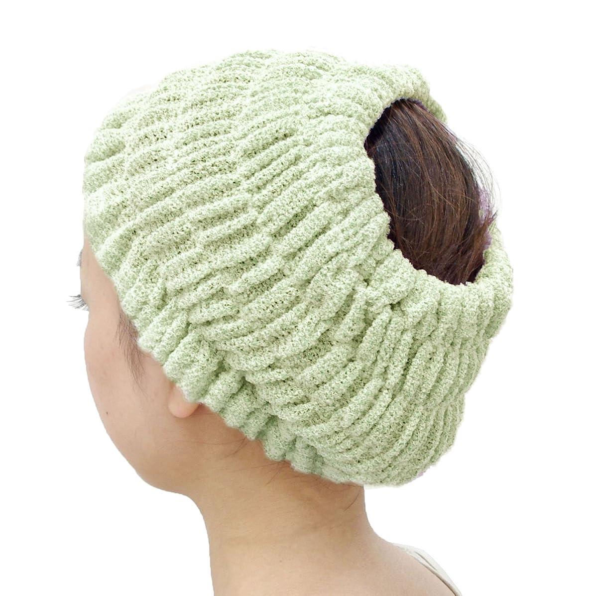 マチュピチュ区別する感謝するオカ(OKA) プリスベイス エピ 乾きやすいバスヘアターバン グリーン フリーサイズ PLYS base epi(ターバン ヘアバンド 髪留め)