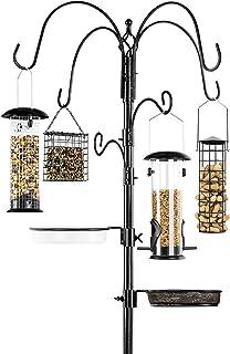 Best Choice Products 6-Hook Bird Feeding Station, Steel Multi-Feeder Kit Stand for Attracting Wild Birds w/ 4 Bird Feeder...