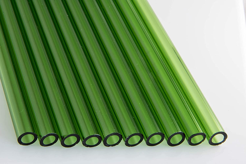 Devardi Glass COE 33 Boro Tubes 12mm 10 Transparent Cheap mail order sales Max 83% OFF Green Boros