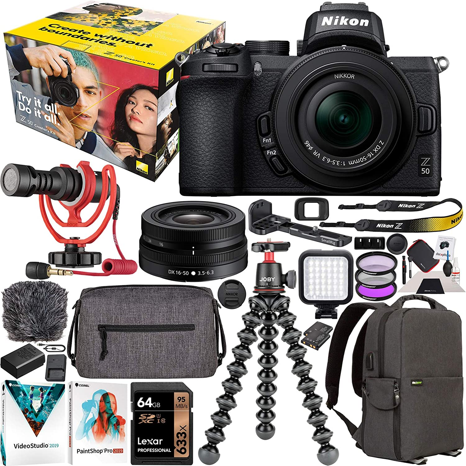 Nikon Z50 Creator's Kit Mirrorless All stores are sold 4K 16-50mm NEW before selling ☆ Body VR L Camera +