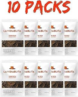 Carne Seca La Diablita 10 Paquetes de 50 Gramos