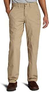 Men's Canvas Khaki Relaxed Fit Straight Leg Pant