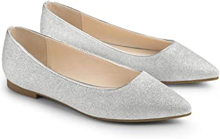 Chaussures Plates Bout Pointu pour Femme Confortables Le Printemps color/ées Femmes Ballerines Femmes Bout Pointu Cuir Microfibre Glisser sur Plat Dress Escarpins Chaussure